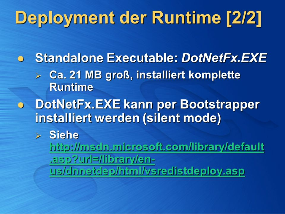 Deployment der Runtime [2/2]